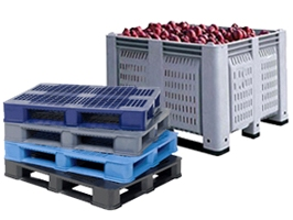 plastic pallets and containers